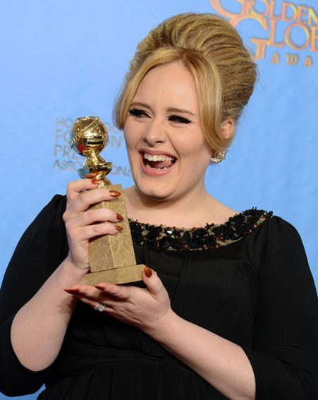 Adele won the award for Best Original Song at the Golden Globes 2013