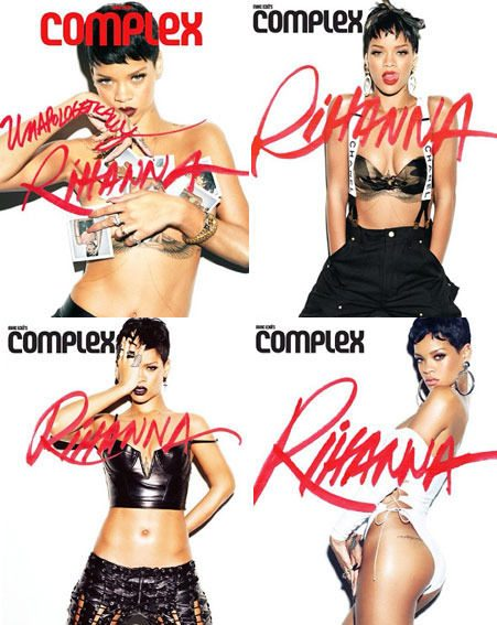 Rihanna shared her half-naked Complex magazine photo shoot on Twitter