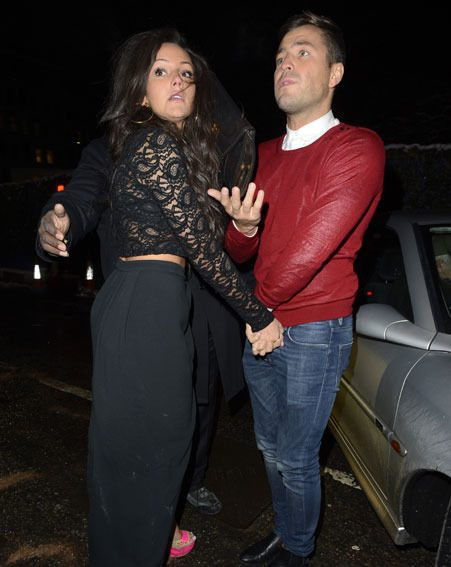 Michelle Keegan and Mark Wright left his birthday bash hand-in-hand