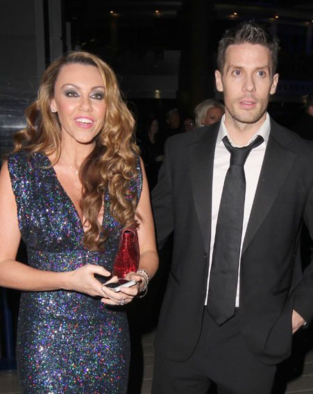 Michelle Heaton was joined by hubby Hugh Hanley at the National Television Awards 2013