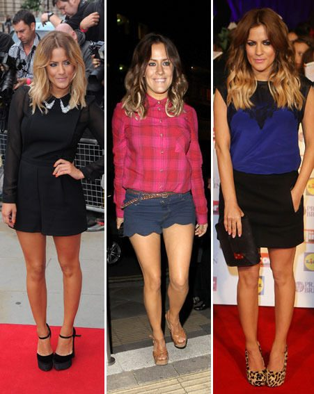 Caroline Flack ditched the standard shorts and shirt combo for the National Television Awards