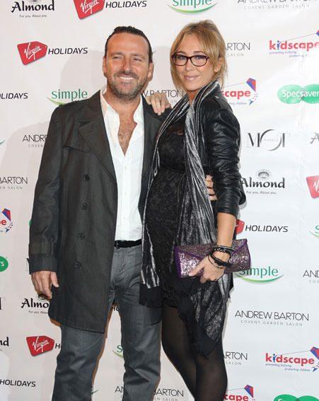Jenny Frost and Vicente Juan Spiteri became parents on Sunday