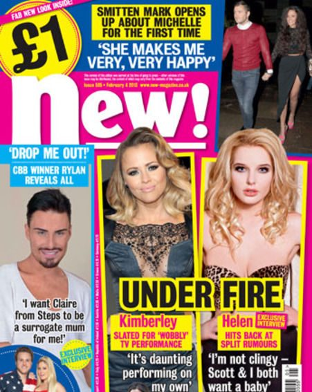 Kimberley Walsh and Helen Flanagan feature in this week's new! magazine