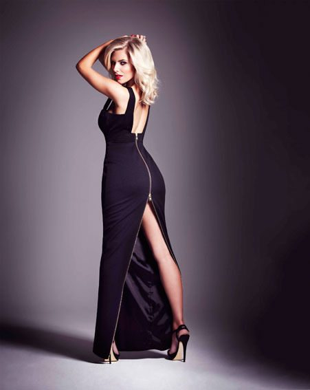 Mollie King posed in a stunning black gown for the Cosmo shoot by Ben Riggott