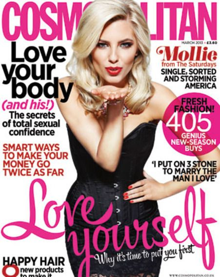 Mollie King's interview appears in the March issue of Cosmopolitan