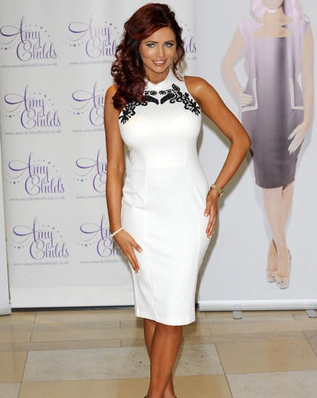 Amy Childs flaunted her hot bod in the new designs
