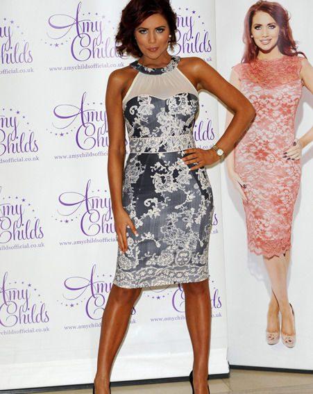 Amy Childs' boyfriend loved her new dresses