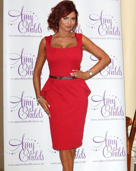 Amy Childs made sure all eyes were on her during the launch