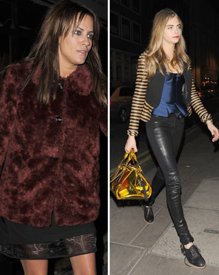 Caroline Flack and Cara Delevingne both wore eye catching outfits to Harry Styles' party