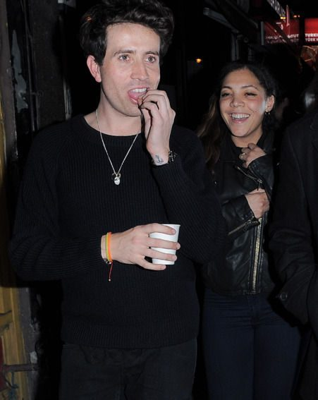 Harry Styles' BFF Nick Grimshaw was spotted at the One Direction star's birthday party
