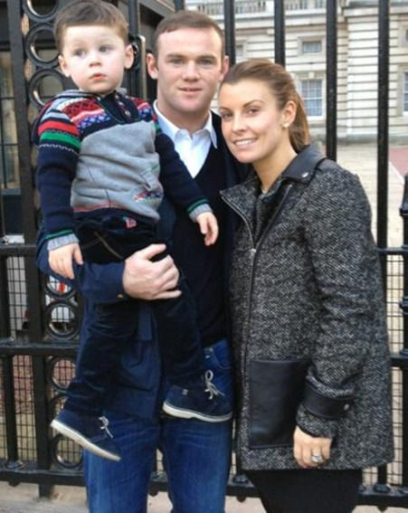 Coleen Rooney with husband Wayne and their cute son Kai