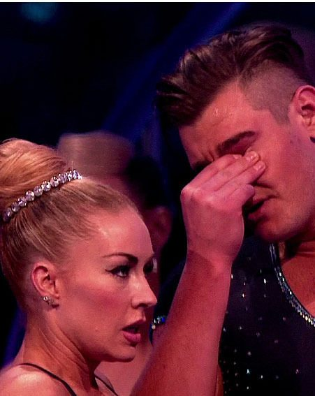 Matt Lapinskas gets emotional after falling in the bottom two