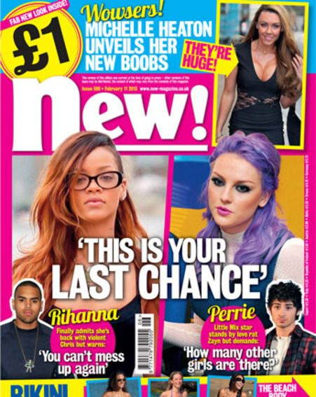 Perrie Edwards and Rihanna take their men back - In this week's new! magazine