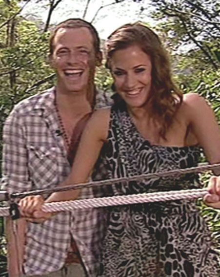 Caroline Flack and Joe Swash worked together on I'm A Celebrity…Get Me Out Of Here! Now!