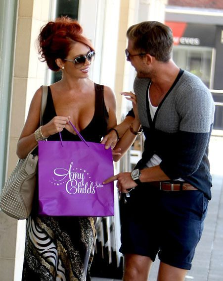 Amy Childs has been training for the London marathon with her boyfriend Dave Peters