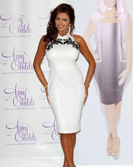Amy Childs has lost weight and her curves through training for the marathon