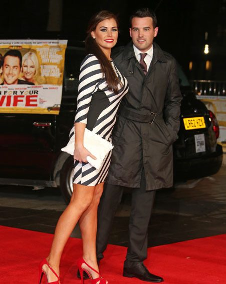 Jessica Wright was joined on the red carpet by TOWIE beau Ricky Rayment