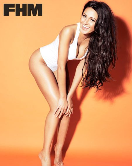 Michelle Keegan posed half-naked for the sexy FHM photo shoot