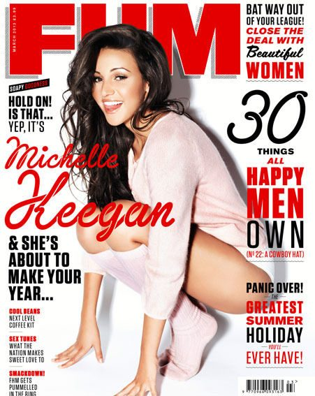 Michelle Keegan appears on the front cover of this month's FHM Magazine, out now