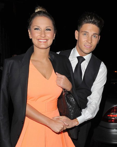 Joey Essex's holiday glow perfectly matched Sam Faiers' orange frock