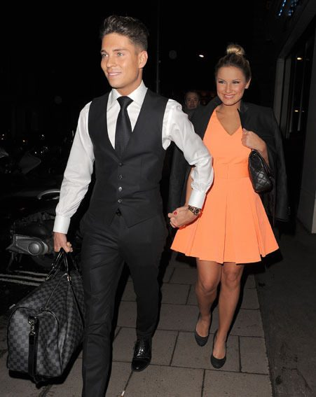 Sam Faiers and Joey Essex looked smitten as they left The Mayfair Hotel last night