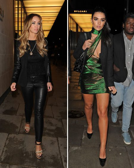 Lauren Pope covered up while Anara Atanes chose to flaunt her model figure