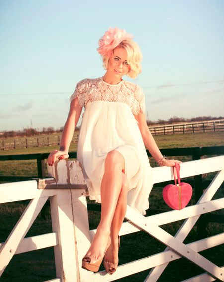 Lydia Bright modelled the dresses from her Spring Summer'13 collection