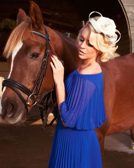 Lydia Bright posed in our favourite frock from the new Spring Summer'13 collection