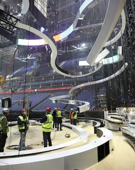Organisers have been busy preparing the O2 for the BRIT Awards 2013