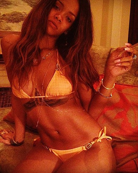 Rihanna's friend posted this bikini picture as they celebrate her birthday abroad