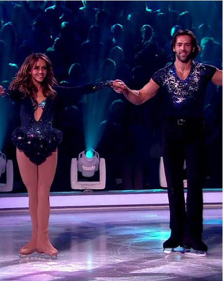 Samia Ghadie and Sylvain Longchambon were booted off tonight's Dancing On Ice