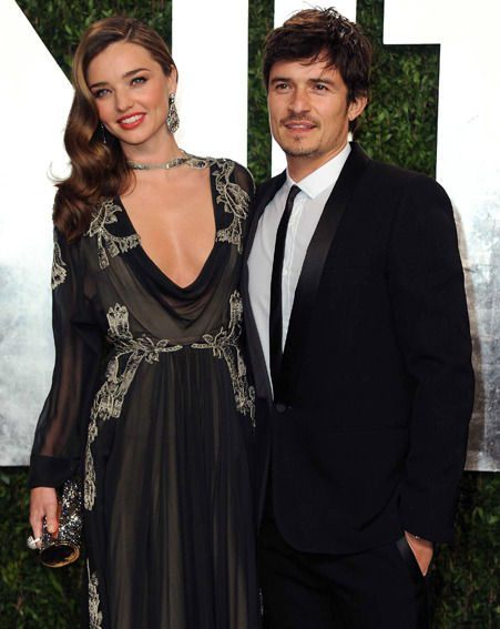 Miranda Kerr and Orlando Bloom had trouble keeping their eyes off each other