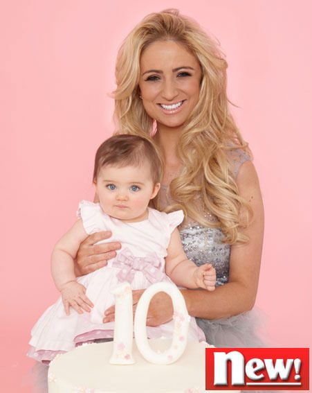 Chantelle Houghton posed with baby Dolly for these exclusive new! magazine shots