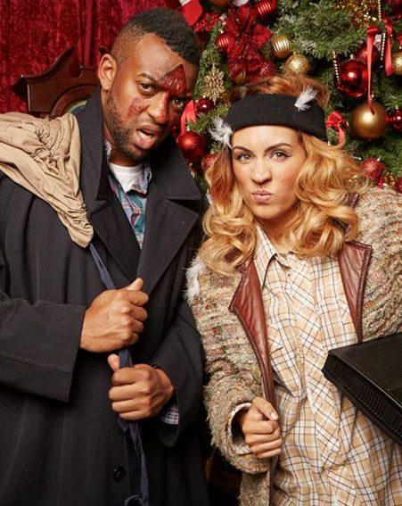 Jls oritse and girlfriend aj celebrate christmas