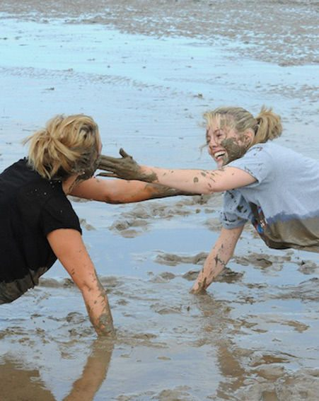 Caggie Dunlop lost 7lbs mud wrestling at No 1 Boot Camp [PHOTO: Jez Batch]