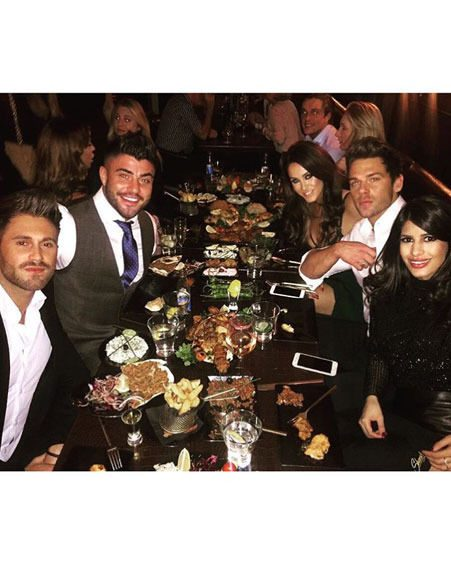 Vicky Pattison celebrated Joss Mooney's birthday with pals over the weekend